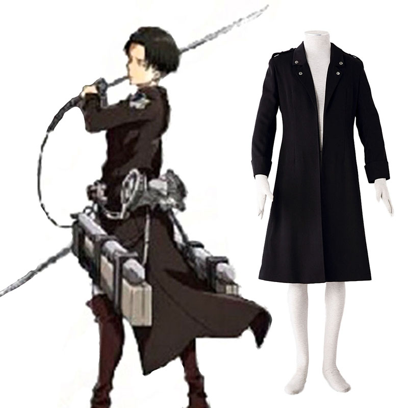 Attack on Titan Levi Zwart Cosplay Kostuums Nederland