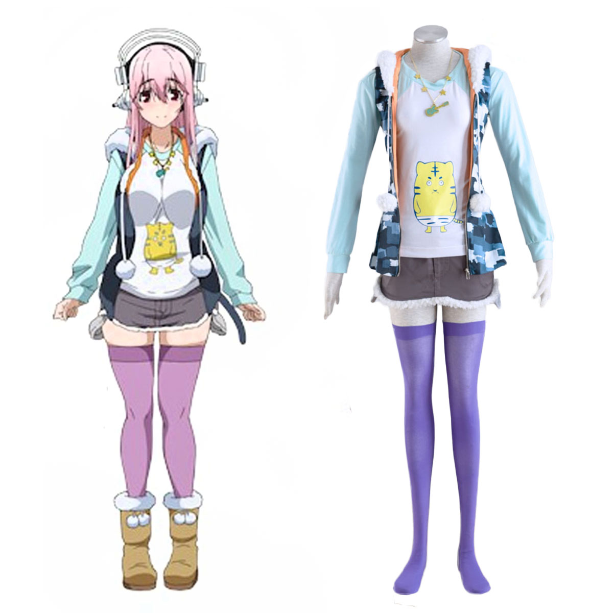 Soni-Ani:Super Sonico the Animation Super Sonico 1 Cosplay Kostuums Nederland