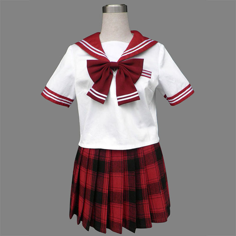 Sailor Uniform 6 Rood Grid Cosplay Kostuums Nederland
