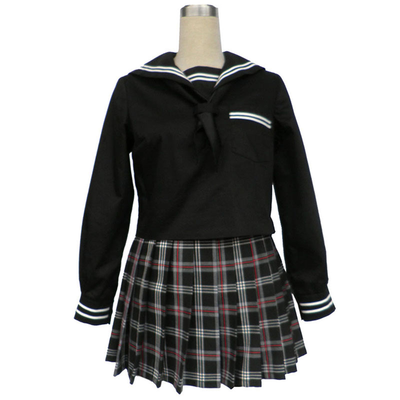 Sailor Uniform 7 Rood Zwart Grid Cosplay Kostuums Nederland