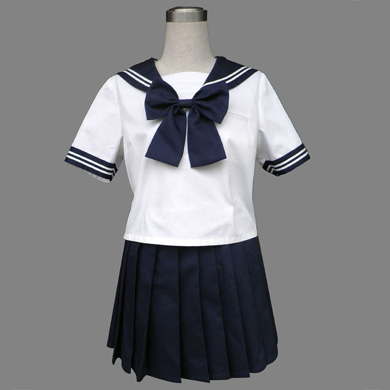 Royal Blauw Short Sleeves Sailor Uniform 8 Cosplay Kostuums Nederland