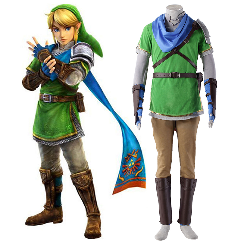 The Legend of Zelda Hyrule-Warriors Link 5 Cosplay Kostuums Nederland