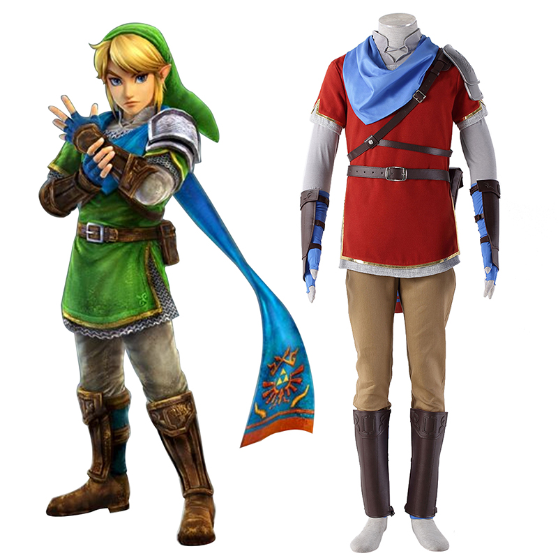 The Legend of Zelda Hyrule-Warriors Link 6 Rood Cosplay Kostuums Nederland
