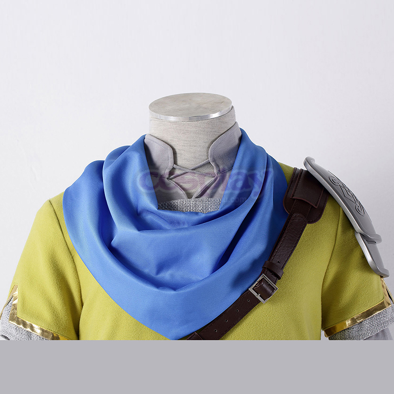 The Legend of Zelda Hyrule-Warriors Link 7 Geel Cosplay Kostuums Nederland