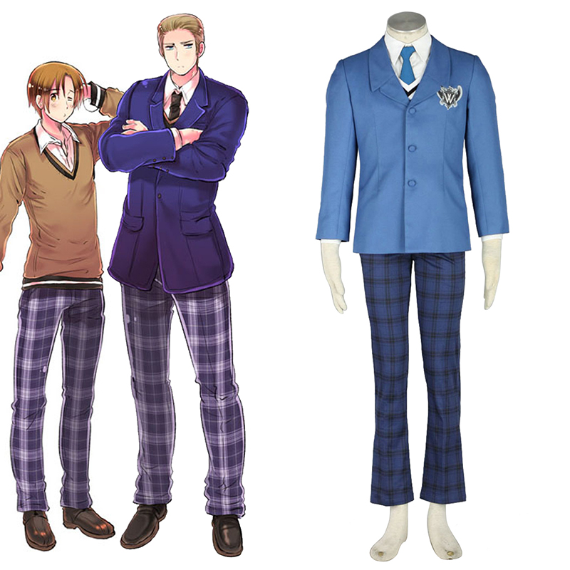 Axis Powers Hetalia Winter Male Schooluniform 1 Cosplay Kostuums Nederland