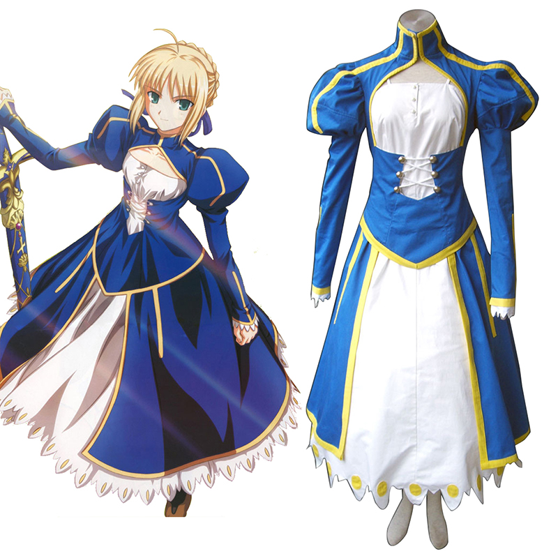 The Holy Grail War Saber 1 Blauw Cosplay Kostuums Nederland