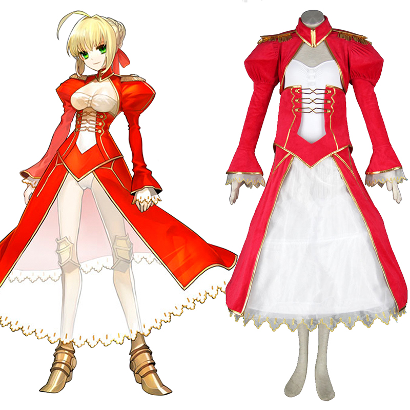 The Holy Grail War Saber 2 Rood Cosplay Kostuums Nederland