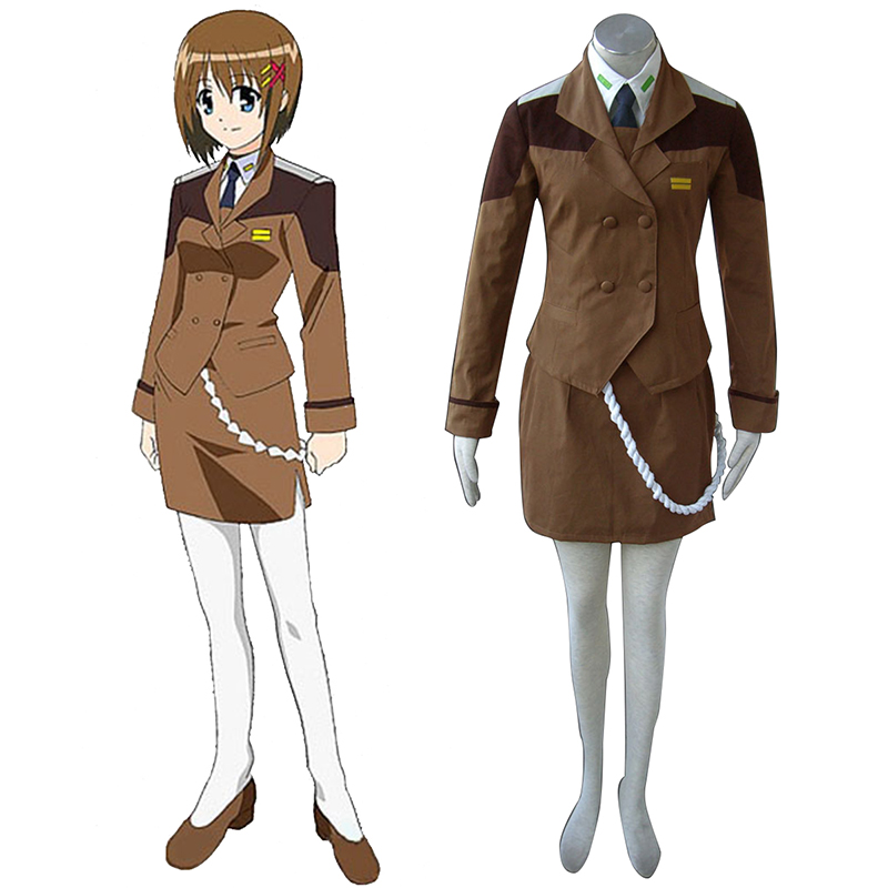 Magical Girl Lyrical Nanoha Vrouw Military Uniform Cosplay Kostuums Nederland