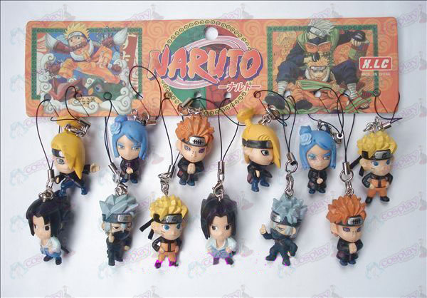 12 Naruto Doll Machine Touw (12 / set)