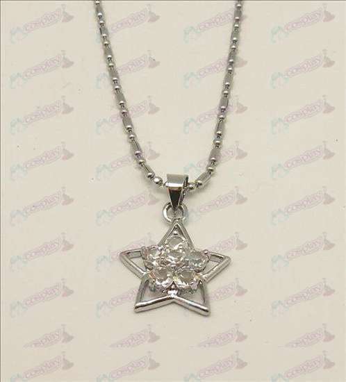 Blister Lucky Star accessoires diamanten halsketting (wit)