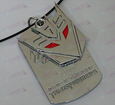 Transformers Accessoires Decepticons dubbele tag ketting - gemarkeerde - Wit