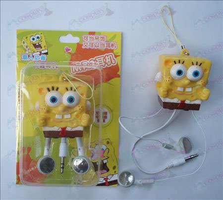 SpongeBob SquarePants Accessoires Retractable MP3 oortelefoon (a)