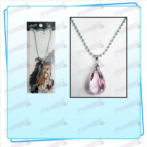 Sword Art Online Accessoires Yui Heart Crystal Ketting (Transparant Roze)