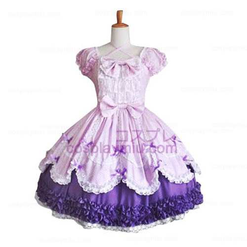 Leuke pofmouwen Sweet Lolita Cosplay Dress