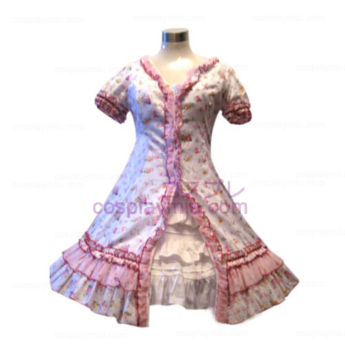Tuin Style Pink Broken Flower Dress Lolita Cosplay Kostuums