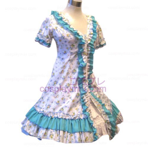 Tuin Style Blauw Broken Flower Dress Lolita Cosplay Kostuums