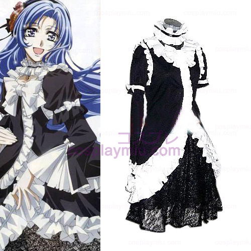 Princess Princess Black Dress Lolita Cosplay Kostuums