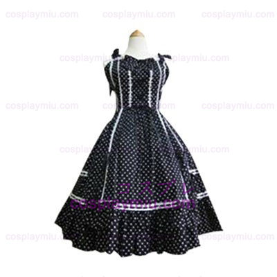 Witte Stip Lolita Cosplay Dress