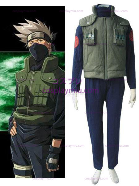 Naruto Hatake Kakashi Hidden Leaf Village van Konoha Jounins Cosplay Uniform