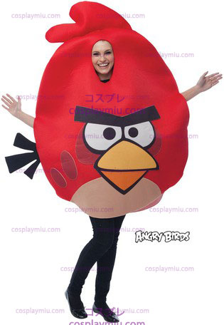 Angry Birds Rood, Adult One Size