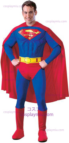 Superman Adult Muscle Dlx Grote