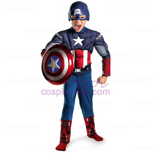 The Avengers Captain America Classic Muscle Borst Child Costume