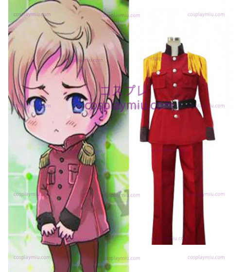 Hetalia: Axis Powers Letland Halloween Red Cosplay Kostuum