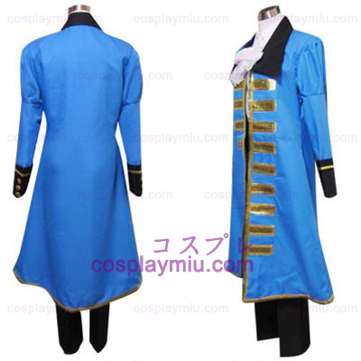 Hetalia Axis Powers Blue Frankrijk Cosplay Kostuum