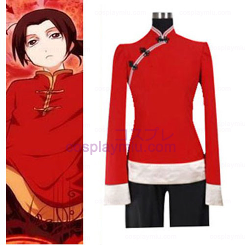 Hetalia Axis Powers China Cosplay Kostuum