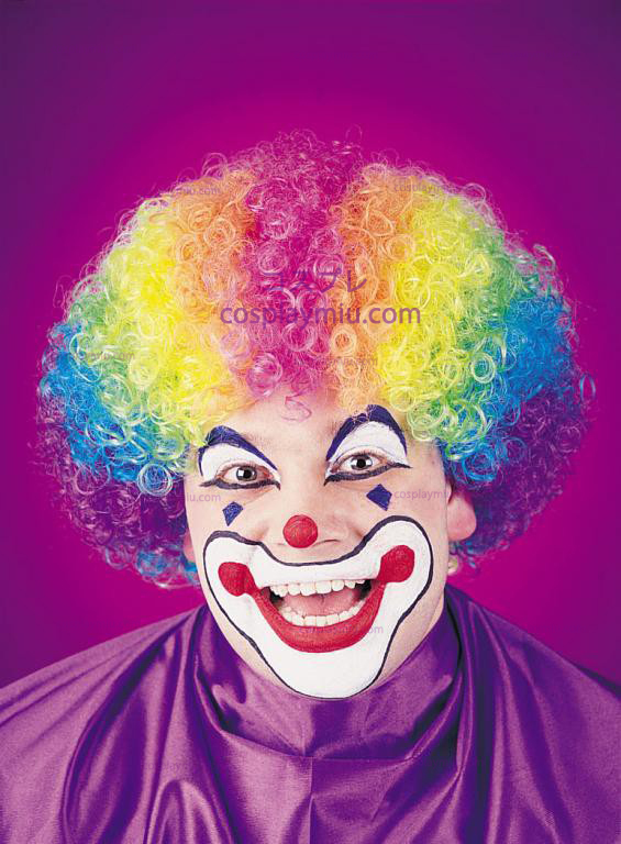 Clown Rainbow Pruik