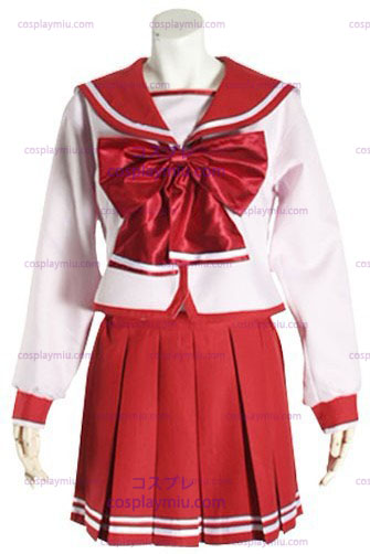 Rode lange mouwen Halloween Cosplay School Uniform