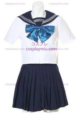 Korte Mouwen Sailor School Uniform Cosplay Kostuum