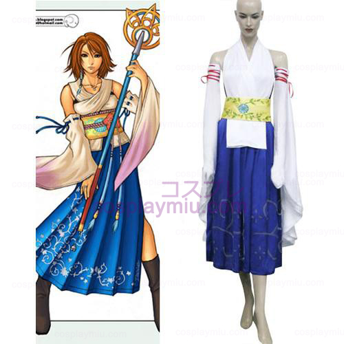 Final Fantasy X-0 Yuna Halloween Cosplay Kostuum