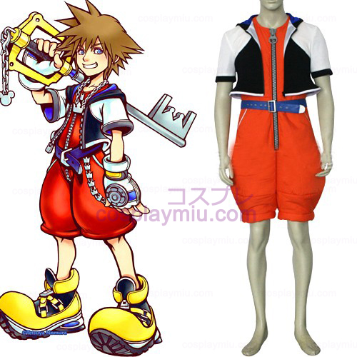 Kingdom Hearts 1 Sora Men's Cosplay Kostuum