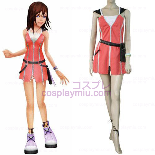 Kingdom Hearts 2 Kairi Pink Dress Cosplay Kostuum