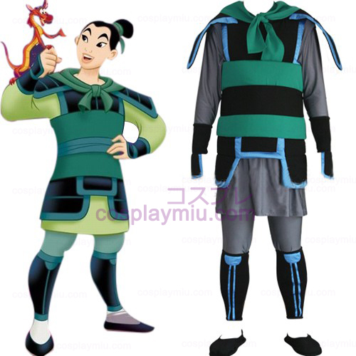 Kingdom Hearts 2 Mulan Mannen Cosplay Kostuum