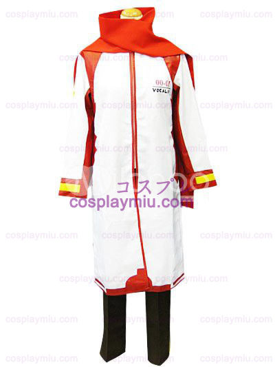 Vocaloid Akaito Red and White Cosplay Kostuum