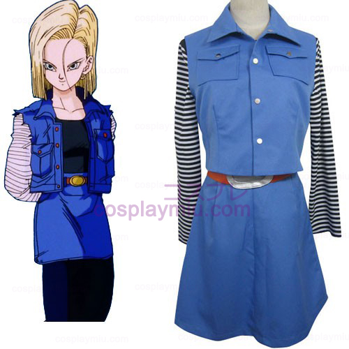 Dragon Ball Android 18 Cosplay Kostuum