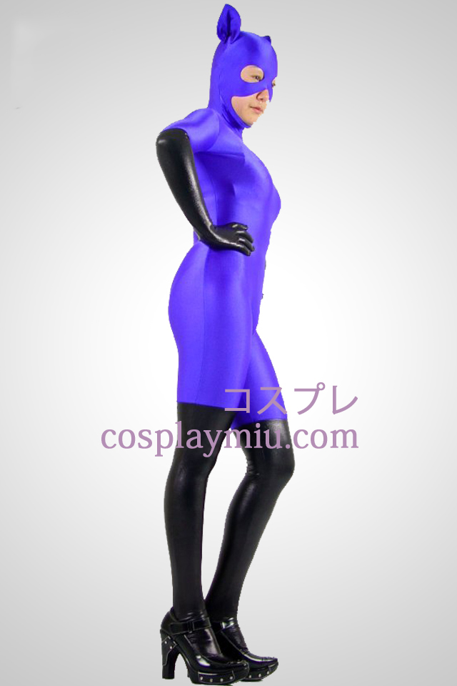 Purple Cat Woman Lycra Zentai Kostuums