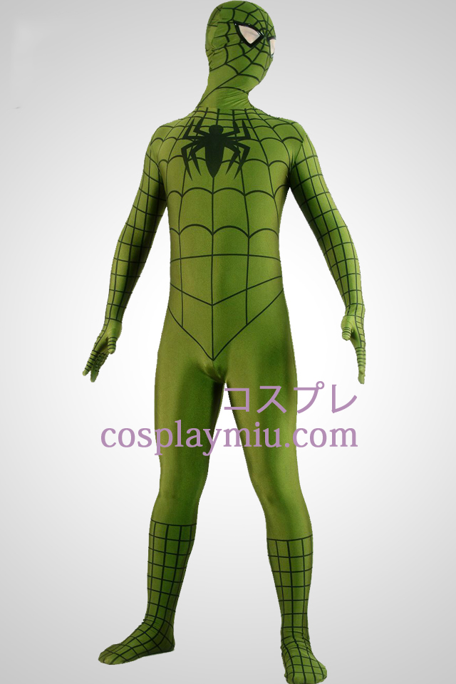 Army Green Spiderman Superhero Zentai Kostuums