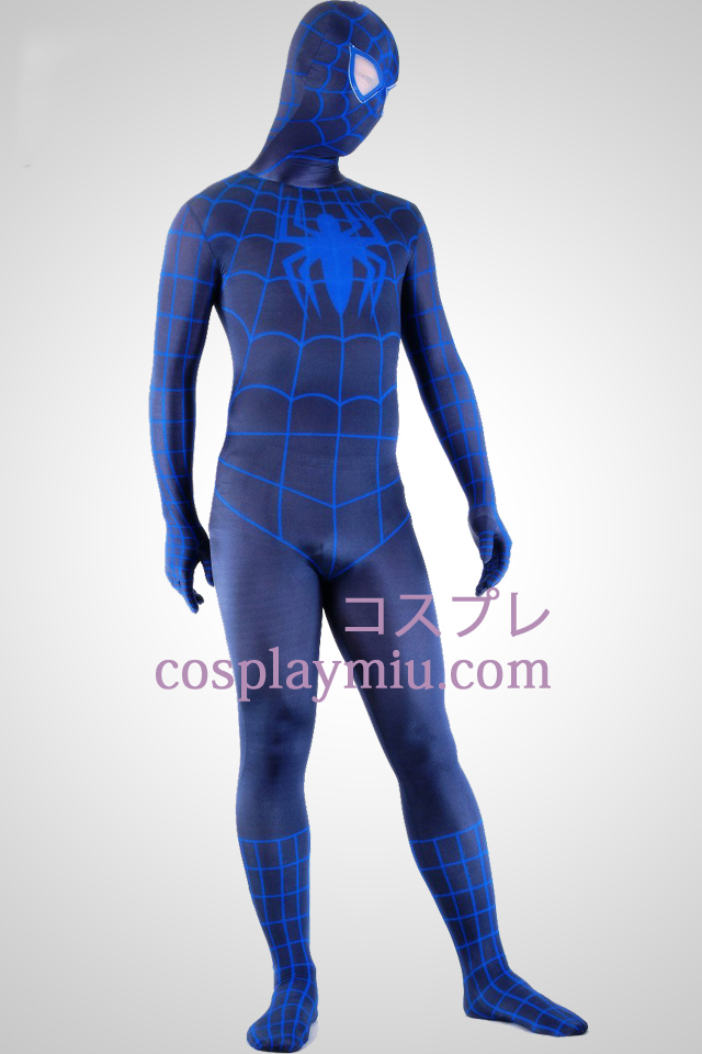 Black And Blue Spiderman Superhero Zentai Kostuums