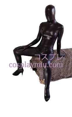 Black Sexy Glanzend metallic Zentai