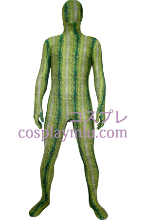 Green Digital Prints Lycra Zentai Kostuums
