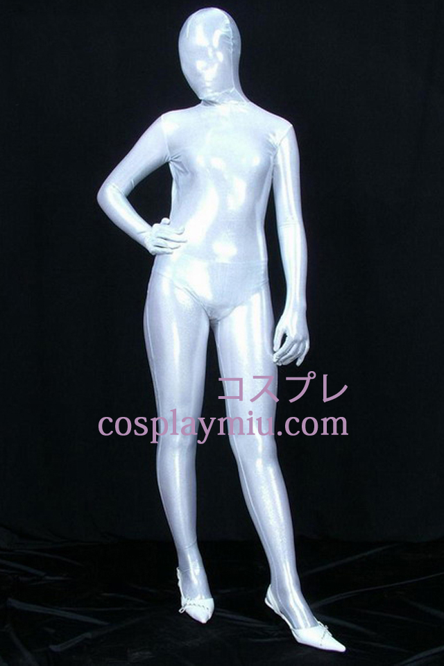 Wit PVC Full Body Zentai