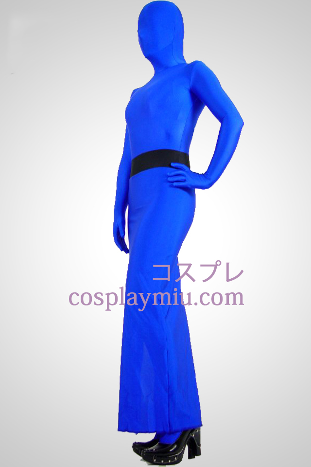 Blauw Full Body Lycra Spandex Dress