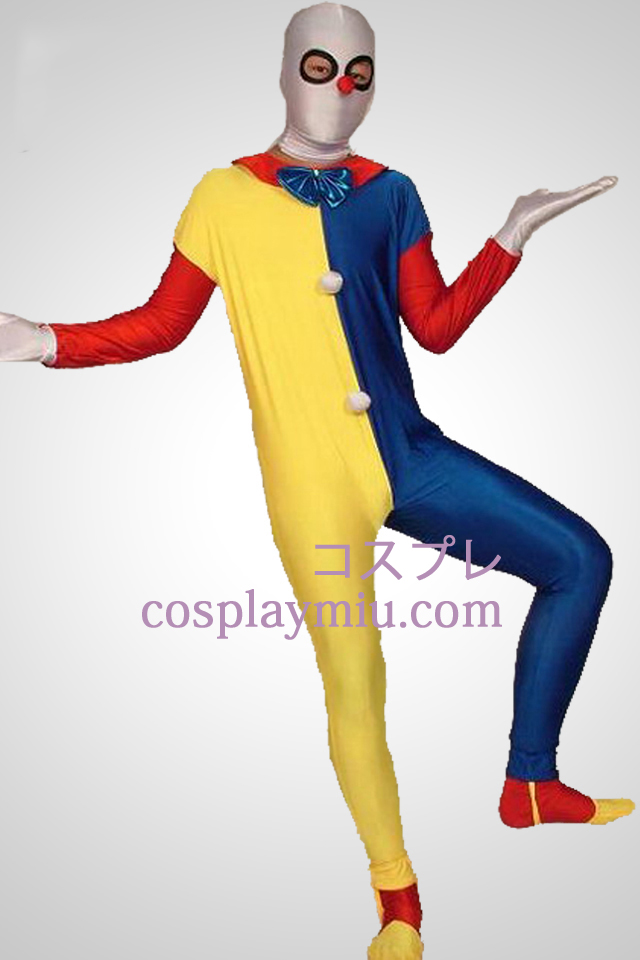 Multicolor Clown Zentai Kostuums