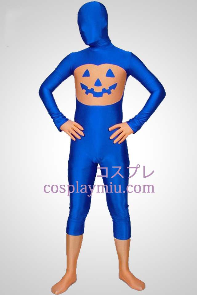 Blue Pumpkin Multi-Colored Unisex Lycra Spandex Zentai Kostuums